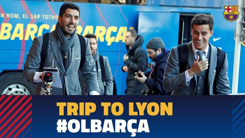 Barça lands in Lyon ahead of the Champions League match against OL