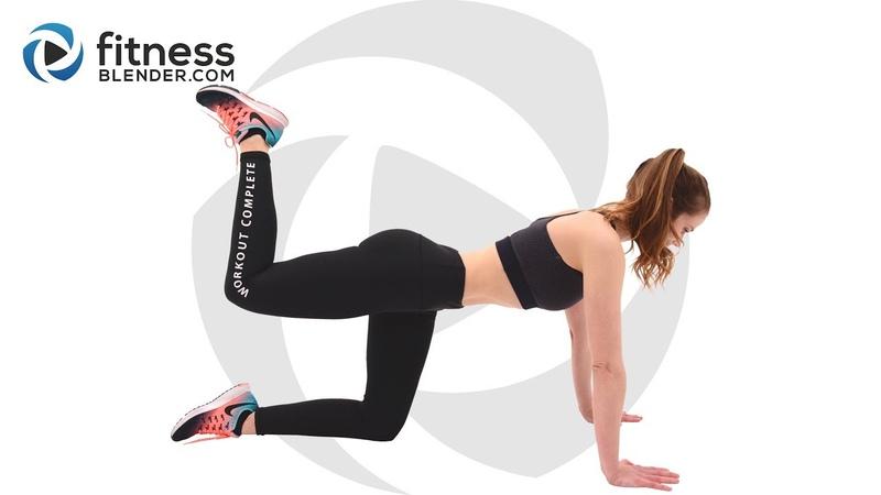 FitnessBlender - Pilates Workout for Butt and Thighs   Несложная тренировка для бедер и ягодиц на полу
