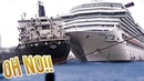 ⚓️😨 BIG SHIP Captains Make Mistakes Too! Ship Crash Accident Close call