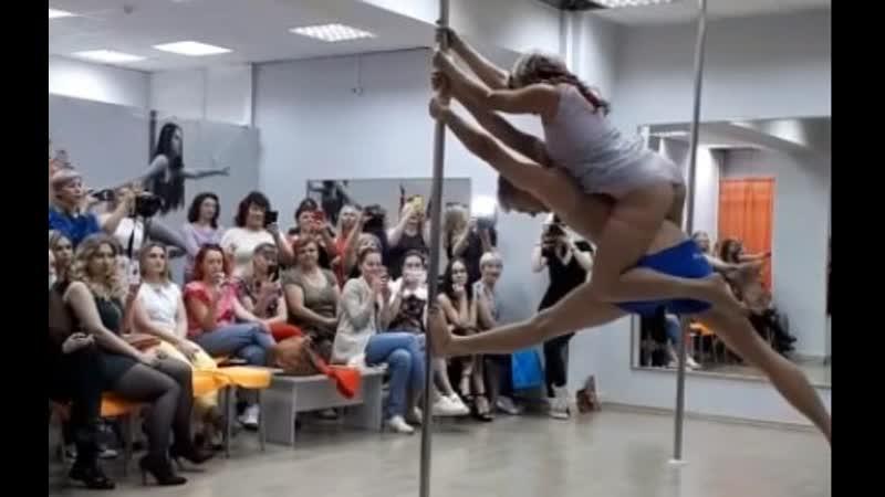 Дуэт на пилоне MaxLove. Pole dance