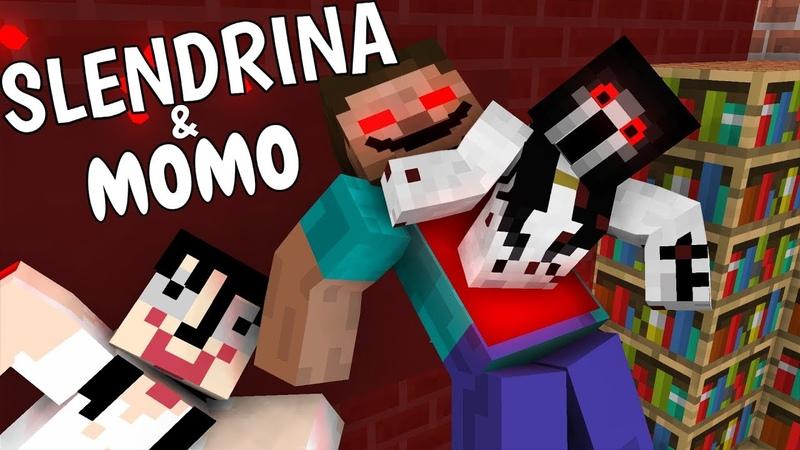 Monster School: SLENDRINA MOMO - Minecraft Animation
