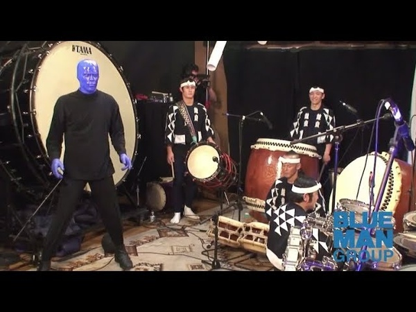 Blue Man Group Performs with Kodo Drummers Exclusive Archival Footage Behind the Scenes