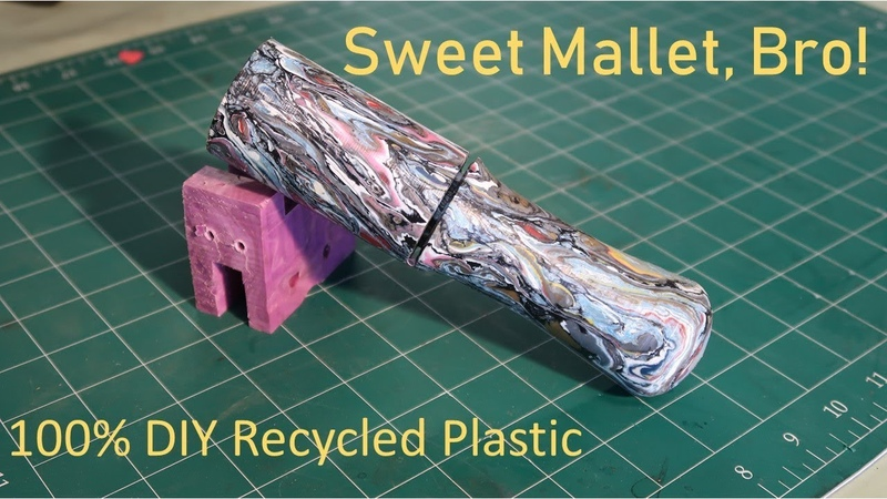 Making a Mallet from Reclaimed 2 HDPE Plastic