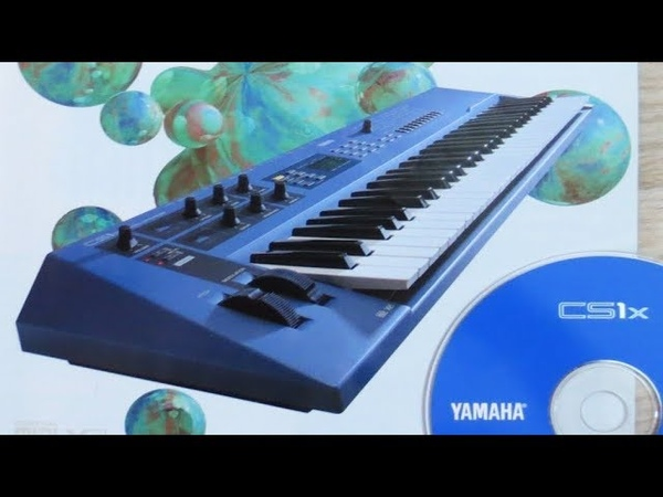 YAMAHA CS1x Dance Synthesizer 1996 Blue is Beautiful demo cd from the 90s