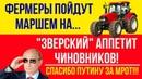 Греф Путин и марш фермеров против Зверский аппетит чиновников