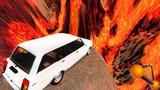 АДСКИЙ ПРЫЖОК в ВУЛКАН! Что, если Машина УПАДЕТ в ЛАВУ.... - BeamNG Drive