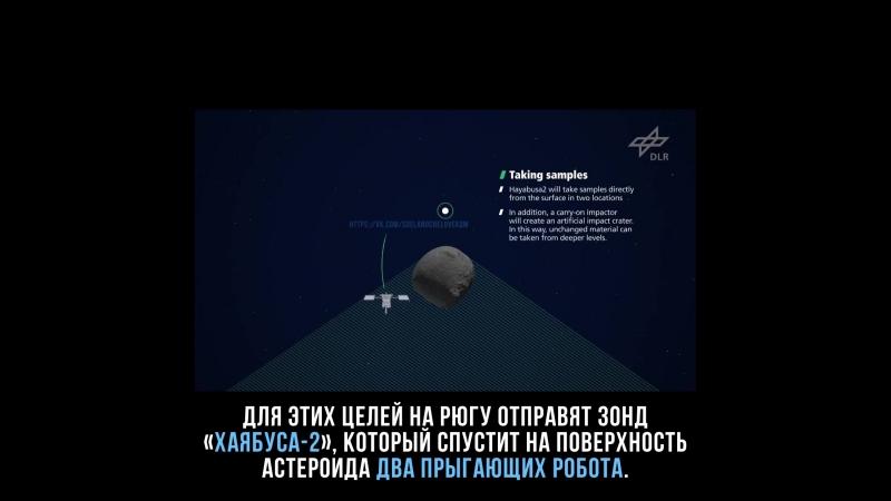 Японский зонд спустит на астероид Рюгу двух роботов