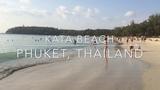 Пляж Ката бич (Kata beach) в январе 2019. Пхукет, Таиланд. Вид на море утром, днём и вечером.