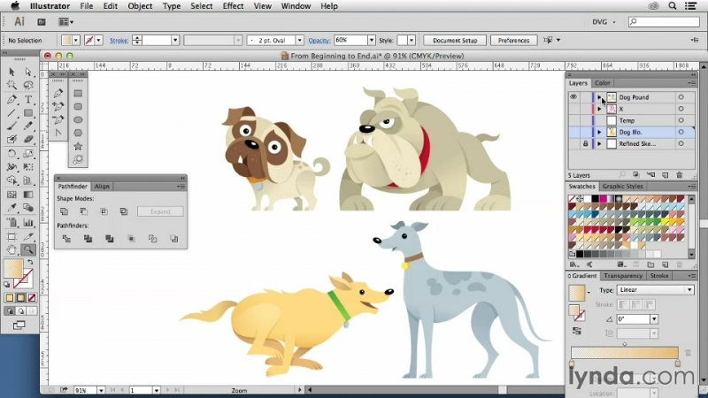 Lynda - Artist At Work - From Sketch To Finished Vector Illustration 06. Adding finishing touches