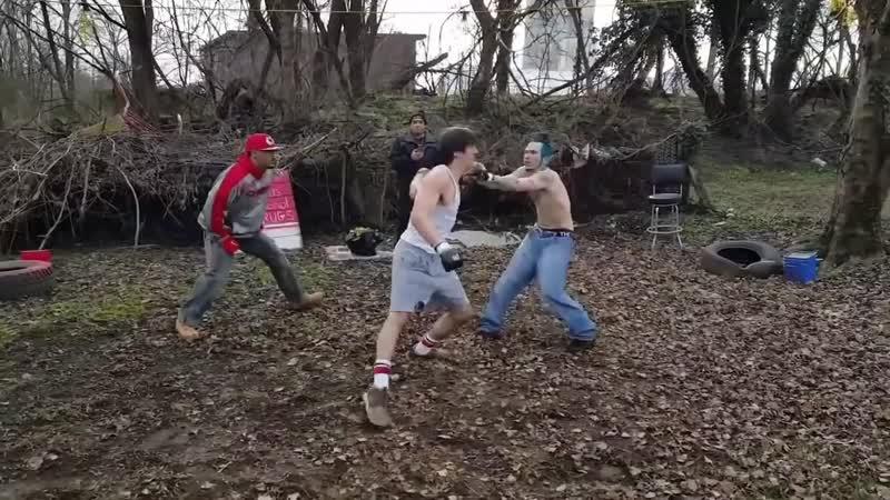 Уличные драки Нокауты с одного удара 16