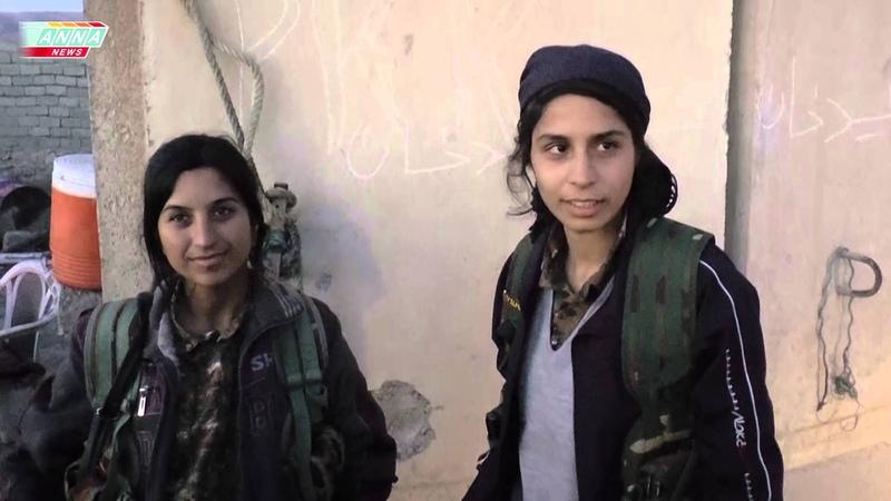 Езиды. Интервью с девушками-ополченками - защитницами священного города Шангала