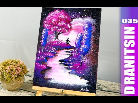 Wizard | Fantasy Magical Abstract Painting Techniques | Step by Step Demo | Bubble Wrap | 035