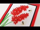 Paper Quilling Flower For beginner Learning Video 14 Paper Flower Card