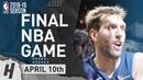 Dirk Nowitzki FINAL NBA GAME Full Highlights Mavericks vs Spurs 2019.04.10 - 20 Pts, 10 Reb!