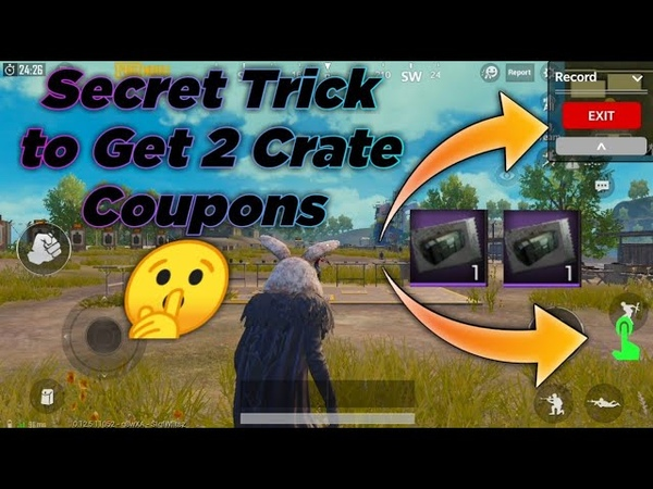 Secret Trick to Get 2 Crate Coupons For Free in PUBG Mobile by Completing Achievement very easily