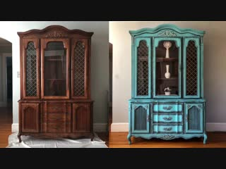 DIY China Cabinet Makeover W- Annie Sloan Chalk Paint