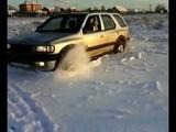 Opel Frontera B штурм снежной целины