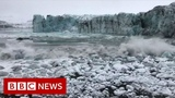 Tourists flee wave from glacier collapse - BBC News