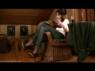 Miss Tanya Фут-фетиш Foot fetish sweet feet nylon #footworship