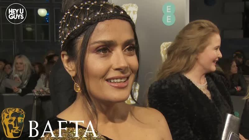 Сальма Хайек на красной дорожке премии «BAFTA–2019»
