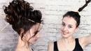 Причёска пучок на средние волосы урок №17