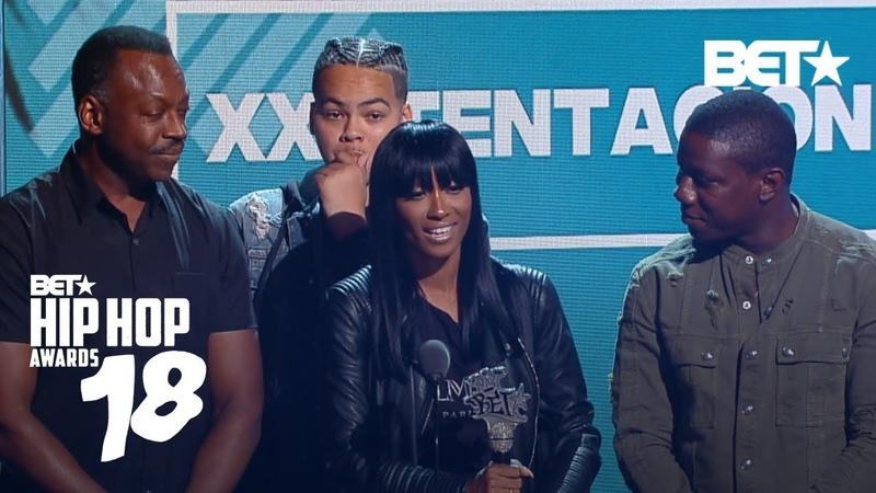 XXXTentacions Mom Accepts His Best New Hip-Hop Artist Award | Hip Hop Awards 2018