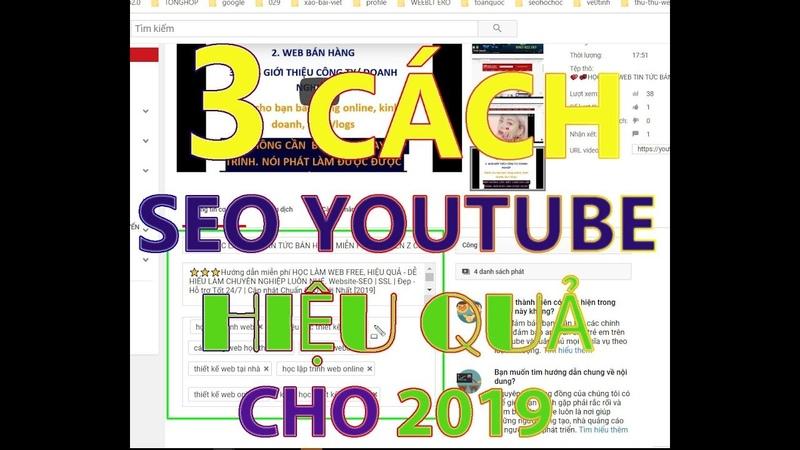 3 CÁCH ĐƯA VIDEO YOUTUBE LÊN TOP GOOGLE HIỆU QUẢ P1(CÒN TIẾP)