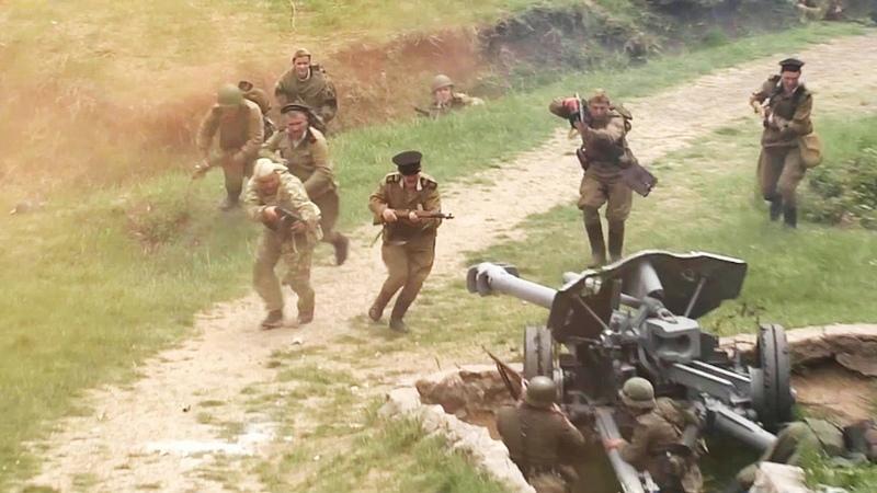 ВСевастополе воссоздали фрагмент легендарного штурма Сапун-Горы вмае 1944 года