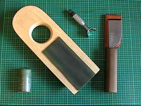 【革包丁の研ぎ方⑤】革砥の作り方★革包丁の切れ味を長持ちさせる道