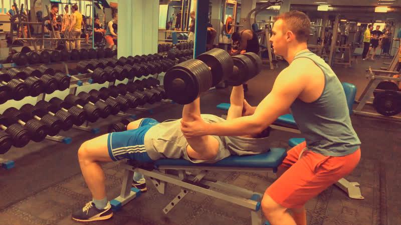Bench press 50kg/2 x 53