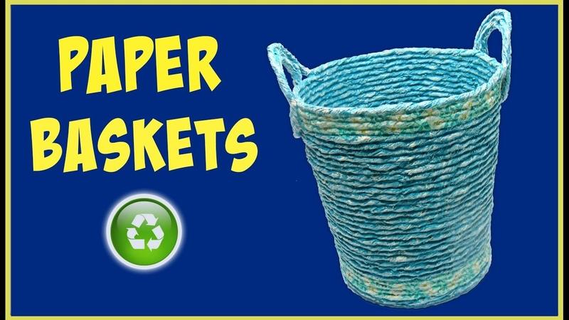 DIY Newspaper baskets. Cestas de papel.