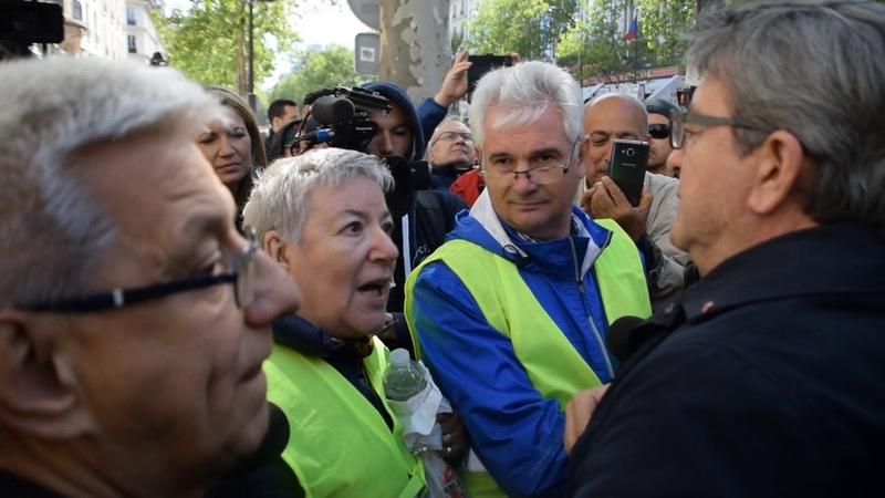 Acte 24 Une retraitée Gilets Jaunes s'adresse à Mélenchon Paris 27 04 2019