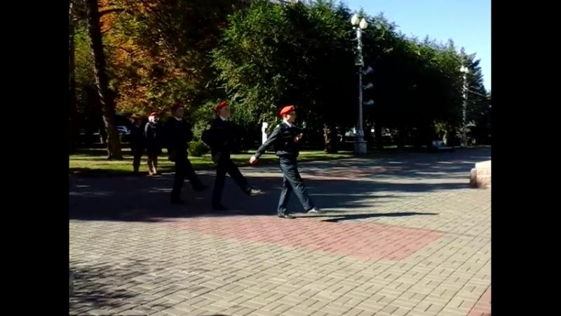 Несение Почетной вахты у Поста № 1. Смена караула.