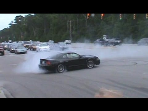 Mustang Week 2012 Leaving Show Burnouts Pullouts Myrtle Beach Speedway Burnout Contest