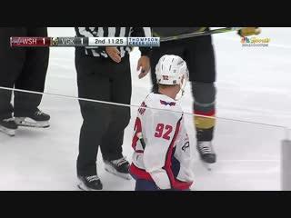 Kuznetsov steals a Vegas stick stuck in boards