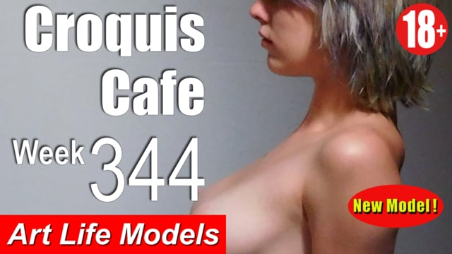 Croquis Cafe Figure Drawing Resource No. 344 (New model, Saturn)