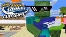 Monster School: NERF GUN GAME SUPER SOAKER EDITION - Minecraft Animation