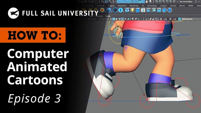 How To: Create a Computer Animated Cartoon – Rigging Animation | Full Sail University