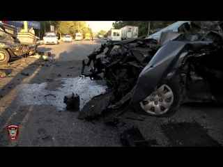 В Луганске произошло ДТП с участием четырех автомобилей