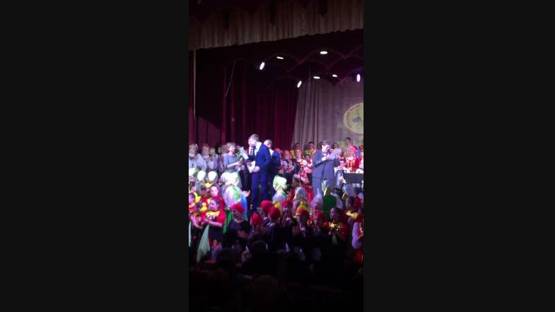 Сергей Верейкин Вручение диплома за высокий исполнительский уровень Обильный край благословенный