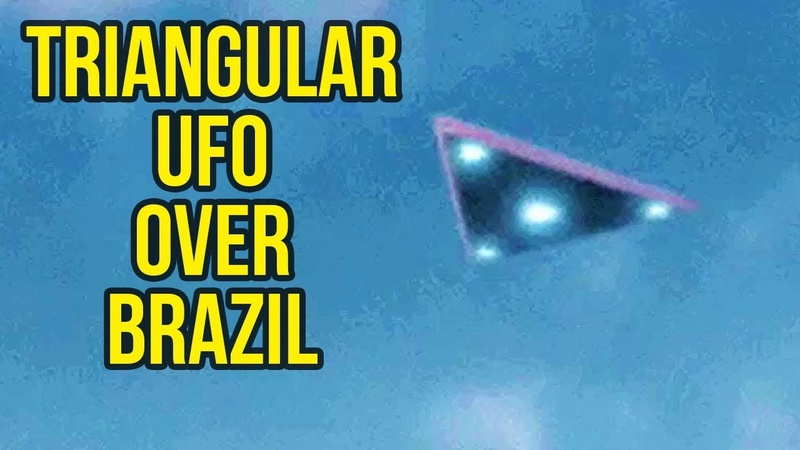 Large Triangle Shaped UFO spotted in Brazil September 2018