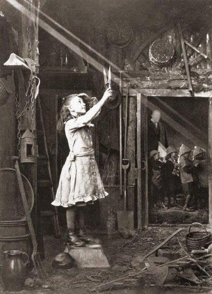 Девочка режет солнечный луч, 1886