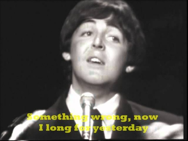 The Beatles Yesterday With Lyrics