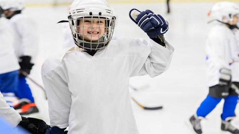 Голы и Эмоции | Первый матч в карьере 9-ти летних хоккеистов | Пингвины - Динамо