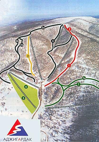 Схема трасс ГЛЦ Аджигардак