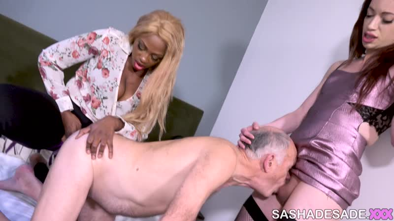 SHEMALE DOMINATION | Sasha de Sade Visiting A Married Couple