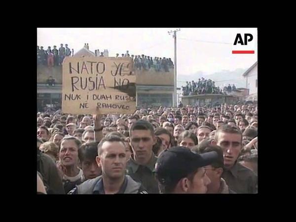 KOSOVO ETHNIC ALBANIANS PROTEST