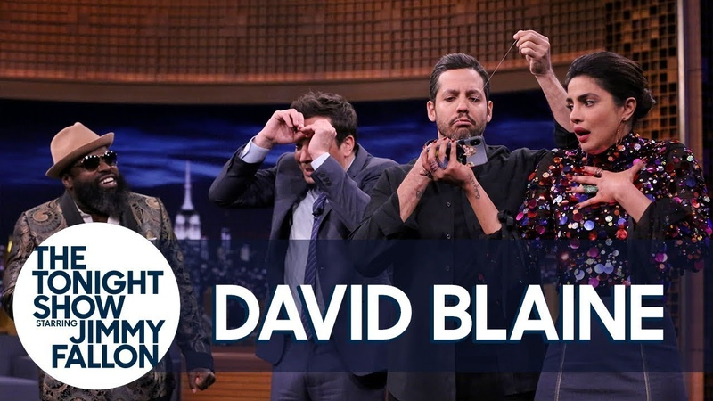 David Blaine Sews His Mouth Shut in Insane Trick (w/Jimmy, Priyanka Chopra The Roots)
