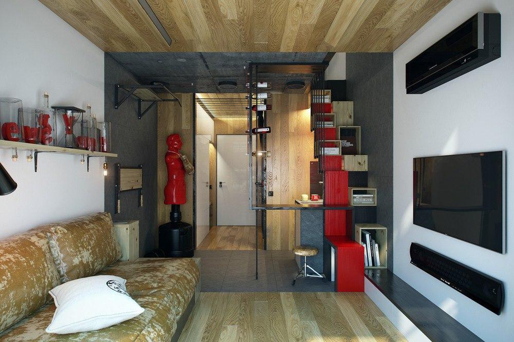 Лофт в небольшой квартире, 18 кв.