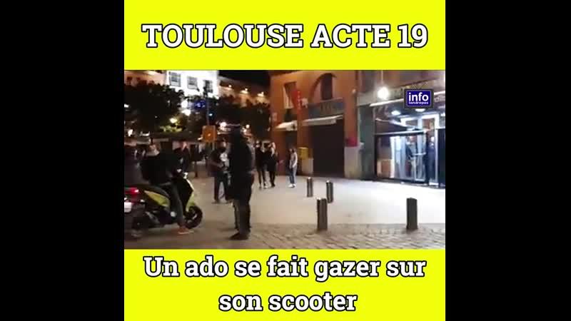 💥Acte 19 Toulouse : un ado se fait gazer sur son scooter